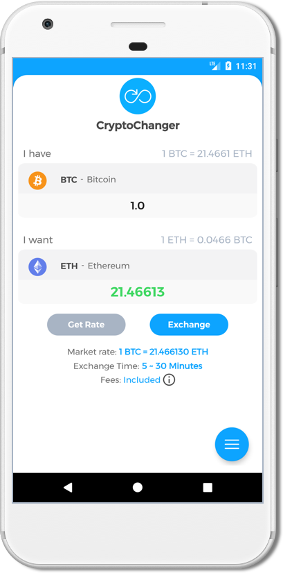 CryptoChanger App